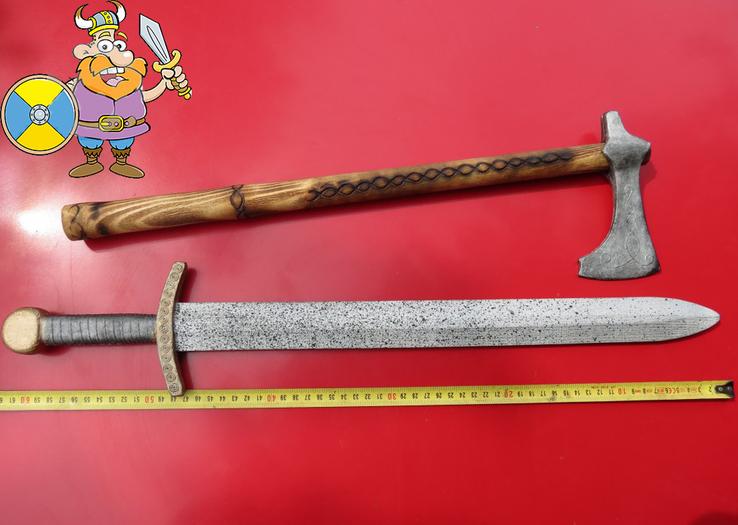 Мечь и топор для маленьких рыцарей (Hand Made)