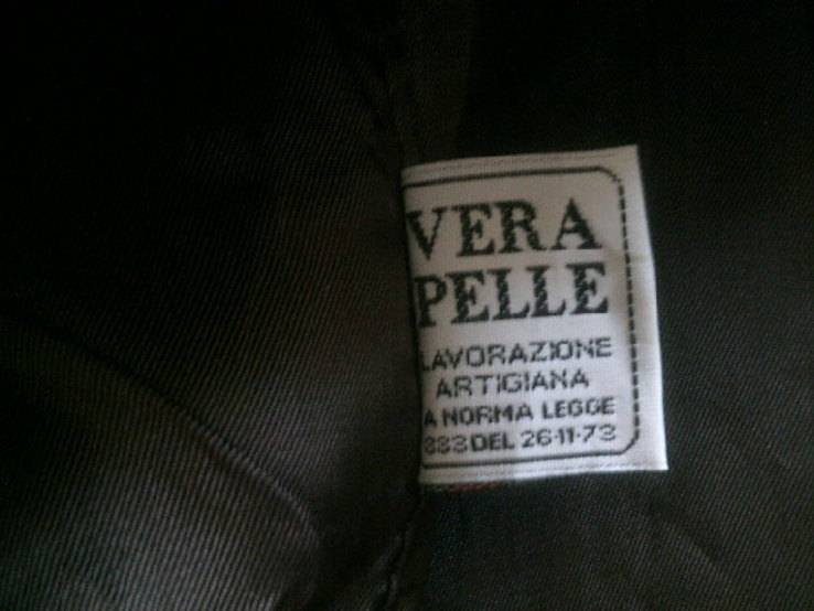 Wera Pelle (Италия) кожаная жилетка разм.56, фото №11