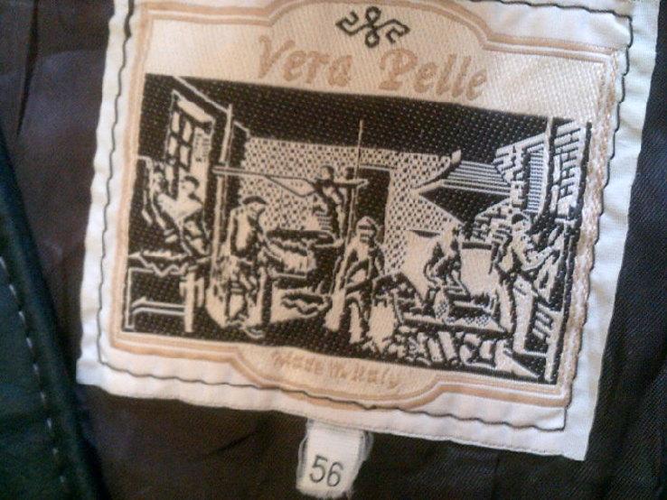 Wera Pelle (Италия) кожаная жилетка разм.56, фото №12