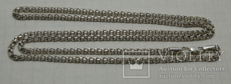 Цепь  бисмарк 10,85гр 64 см, фото №5