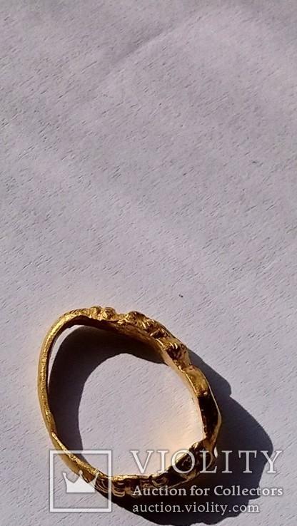 Золотой перстень 15-16 век, фото №4