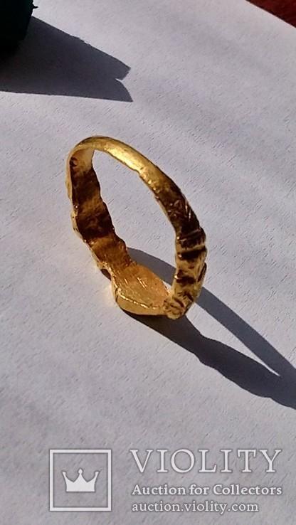 Золотой перстень 15-16 век, фото №5
