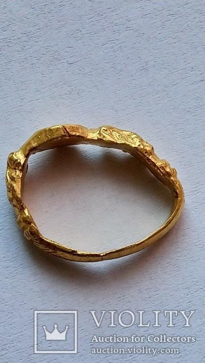 Золотой перстень 15-16 век, фото №6