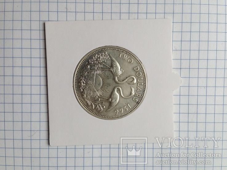 Багамские острова. 2 доллара. Серебро. 925 пр. 29,8 гр., фото №6