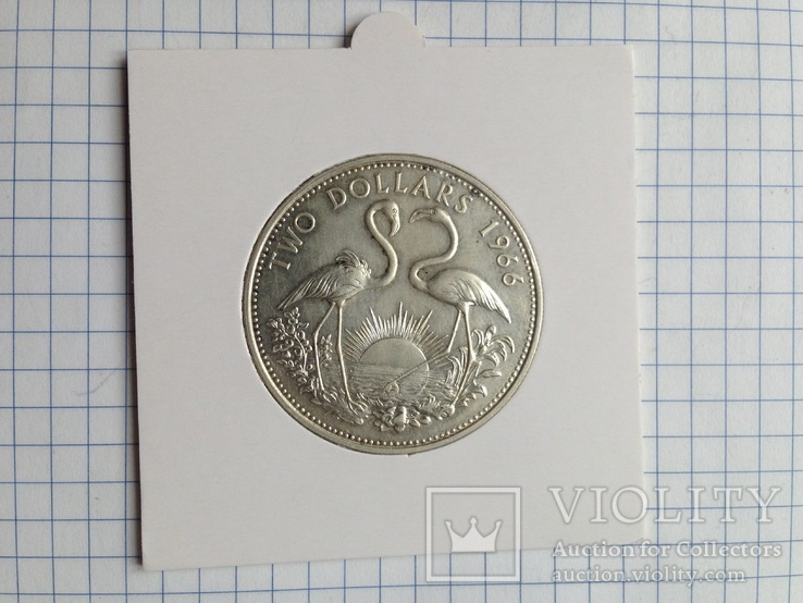 Багамские острова. 2 доллара. Серебро. 925 пр. 29,8 гр., фото №9