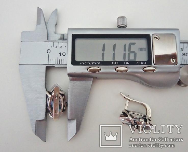 """Серьги """"Лодочки"""". Серебро 925 проба, фото №8"""