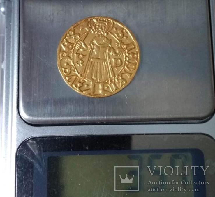 Угорський золотий дукат Матвія Корвіна, фото №9