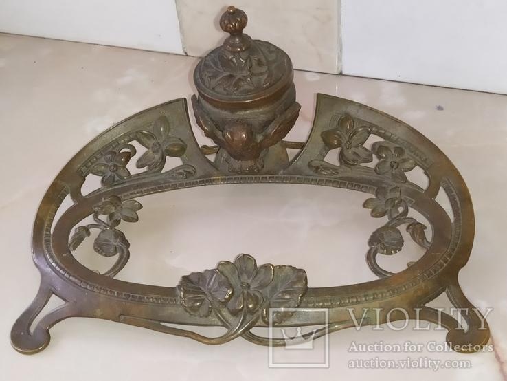 Сова бронза Коллекционная подставка на письменный и кухонный стол, фото №3