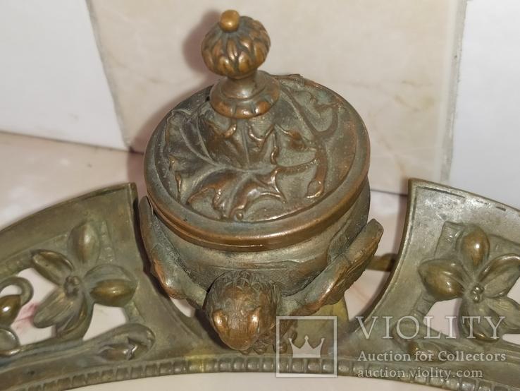 Сова бронза Коллекционная подставка на письменный и кухонный стол, фото №6