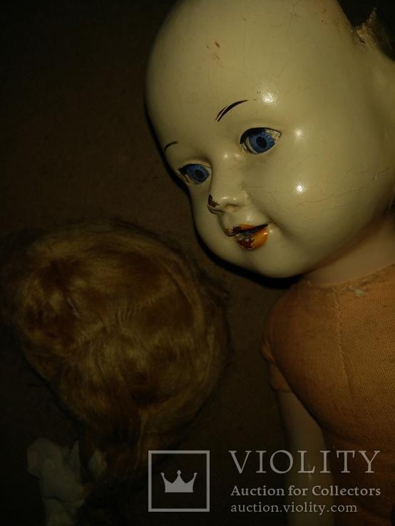 Кукла пресс.опилки паричковая 47см., фото №10