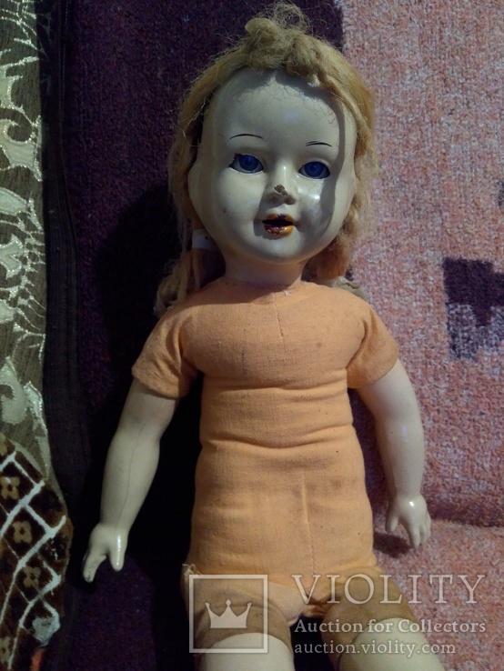 Кукла пресс.опилки паричковая 47см., фото №13