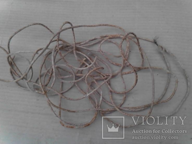 Провод в тканевой оплетке - 8 м (из 60-х), фото №3