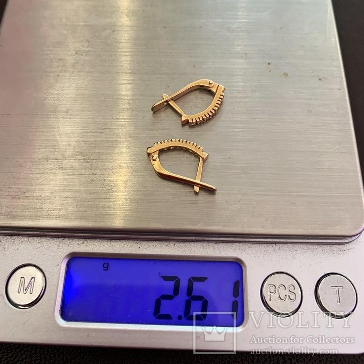 Золотые серьги, фото №5