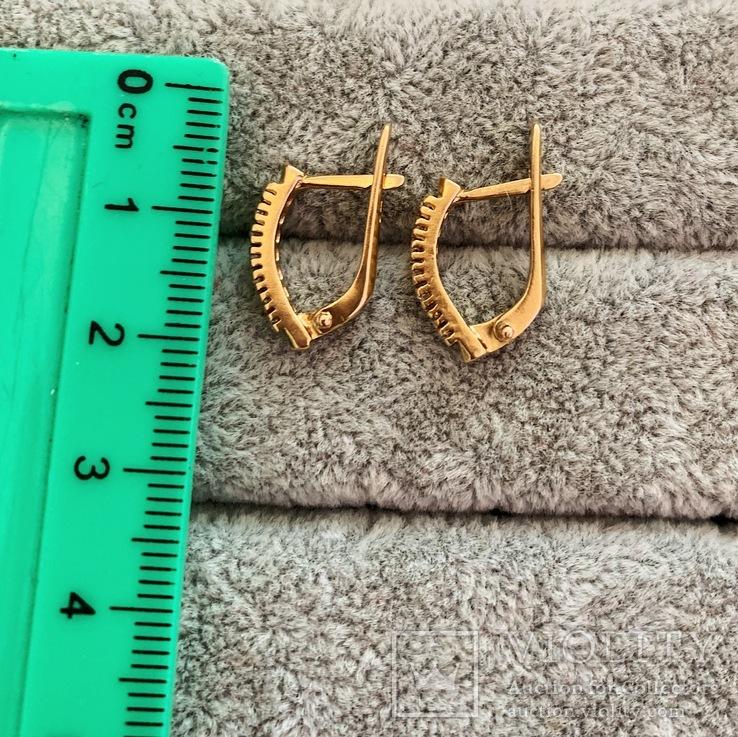 Золотые серьги, фото №6