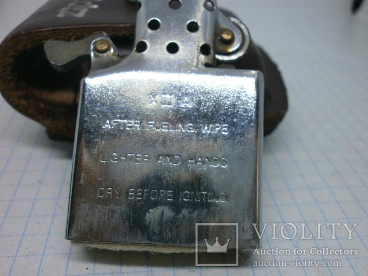 Зажигалка Zippo в кожаном чехле, фото №7