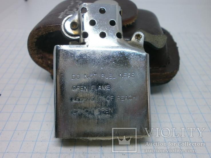 Зажигалка Zippo в кожаном чехле, фото №8
