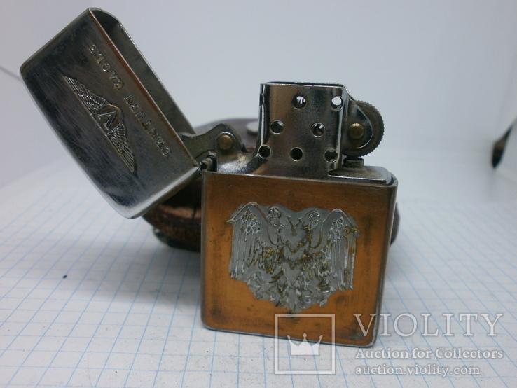 Зажигалка Zippo в кожаном чехле, фото №9