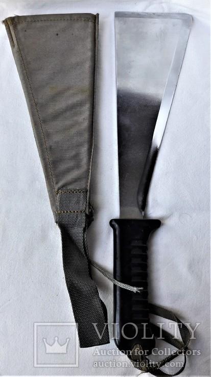 Нож - Мачете, ВВС СССР, №389 2014, из НАЗ - 7М, 1980е гг, в родной заточке, чехле, фото №3