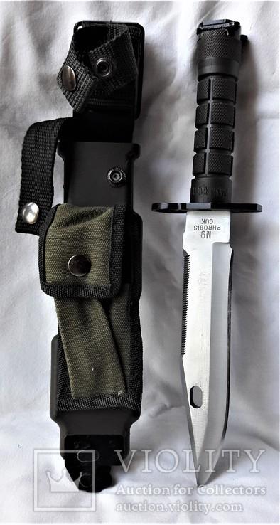 Штык-нож М9 №МК0433115, в родном чехле, Вооруженные Силы США, фото №2