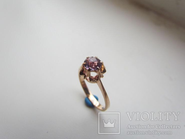 Золотое кольцо 583 пр 17 р, фото №4