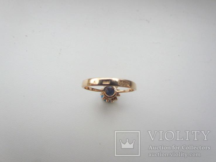 Золотое кольцо 583 пр 17 р, фото №6