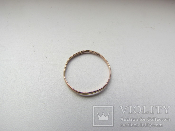 Кольцо обручальное золото 375 пр. ( лом ), фото №2