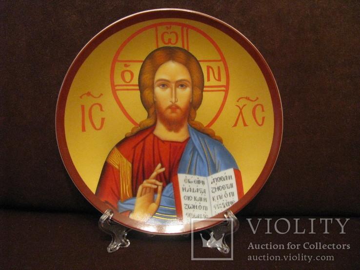 Настенная тарелка - Господь Вседержитель., фото №2
