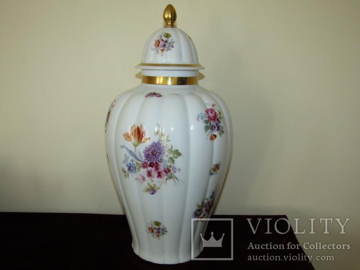 Каминная ваза фарфор роспись Мейсенский букет Thomas Rosenthal Германия 1908 -1939 г.г.