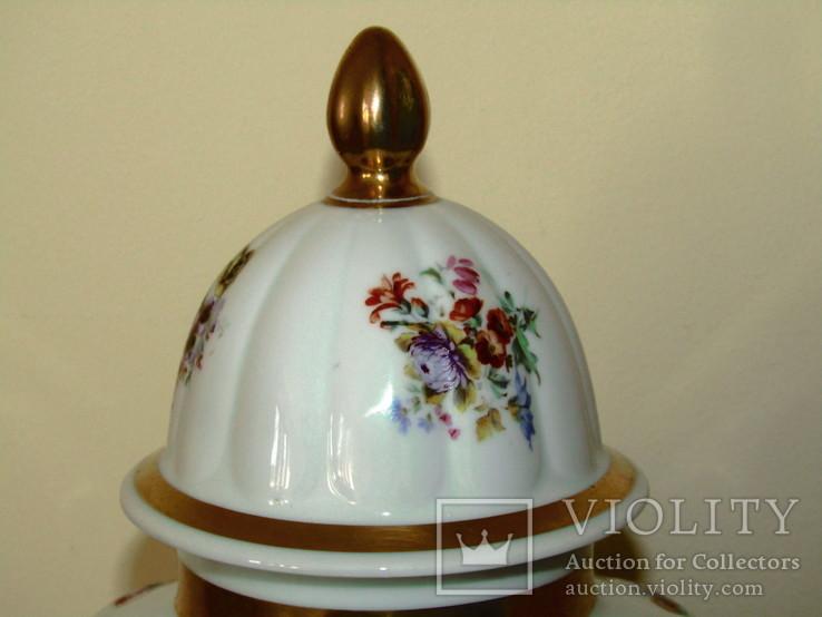 Каминная ваза фарфор роспись Мейсенский букет Thomas Rosenthal Германия 1908 -1939 г.г., фото №10