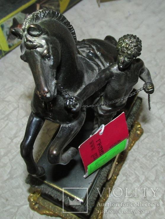 Часы интерьерные Спартанец с конем, фото №4