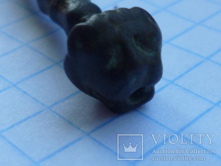 Ручка булавка с головой тигра..Рим, фото №5