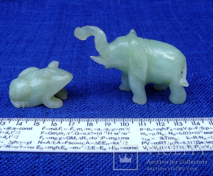 Слон и лягушка из оникса. Германия., фото №11