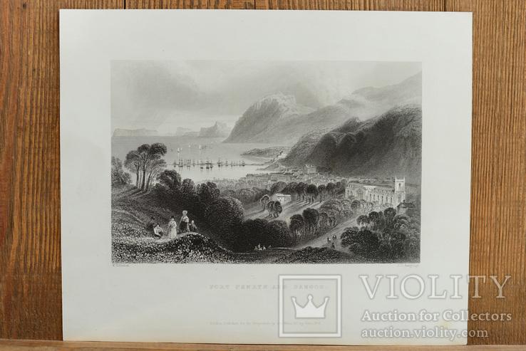 Антикварная гравюра Port Penryn and Bangor