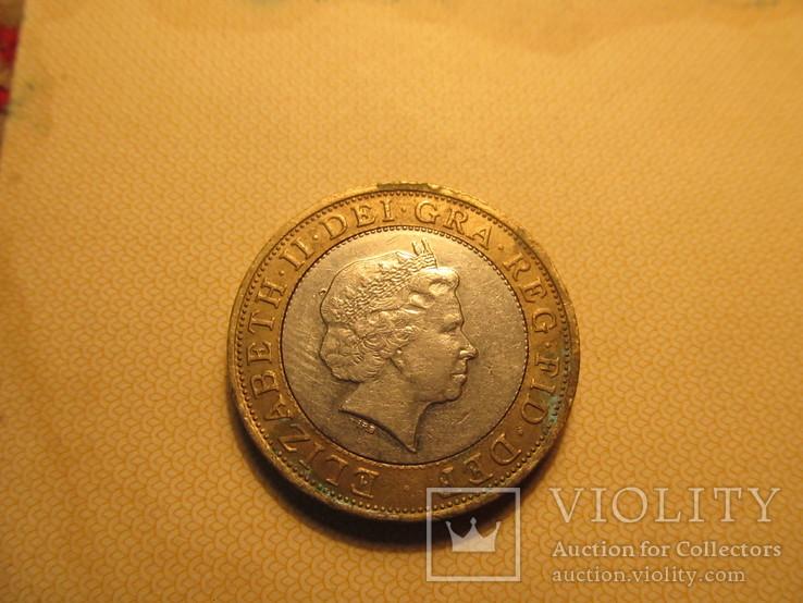 Two pounds Два фунта стерлингов 2008 года, фото №2