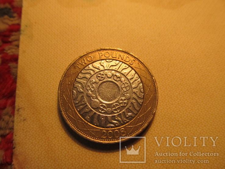 Two pounds Два фунта стерлингов 2008 года, фото №3
