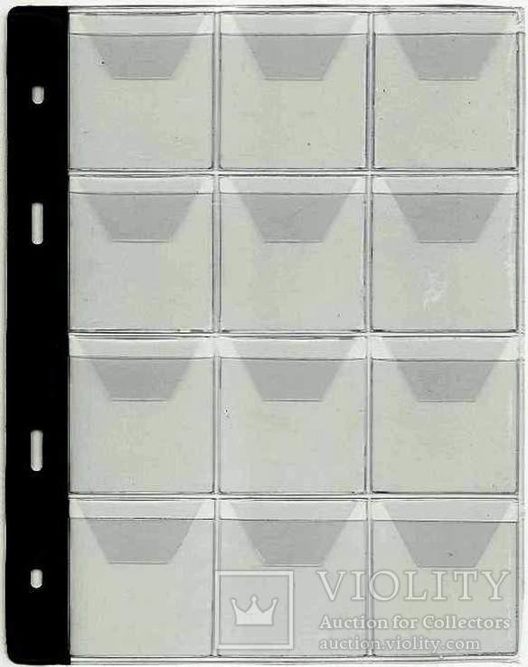 5 листов к альбому для монет Тип-12.Оригинал логотип SCHULZ Польша, фото №3