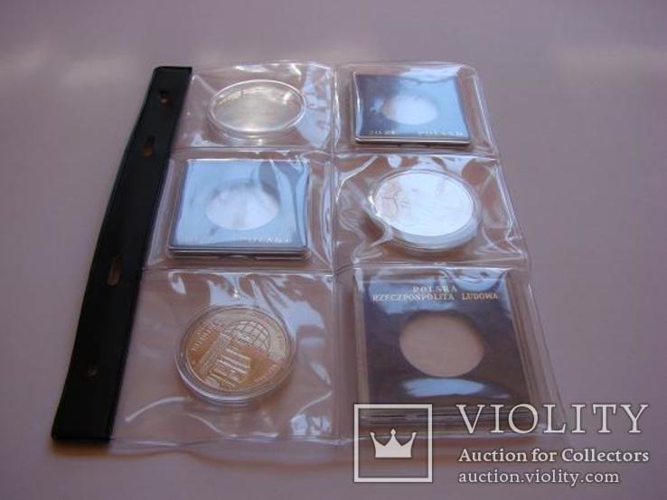 5 листов к альбому для монет Тип-6.Оригинал логотип SCHULZ Польша, фото №4
