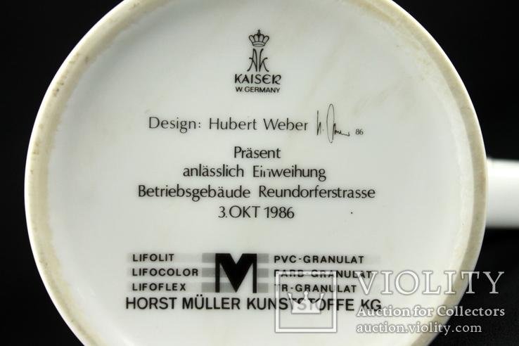 Коллекционная пивная кружка. Kaiser. Hubert Weber Design. Германия. (0373), фото №10
