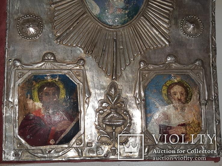 1809 Священное Евангелие Серебро 84 - 35х23 см, фото №4