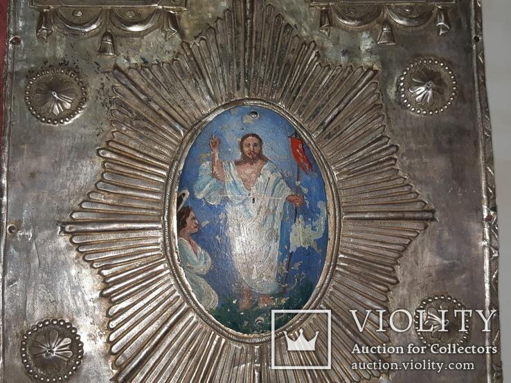 1809 Священное Евангелие Серебро 84 - 35х23 см, фото №12