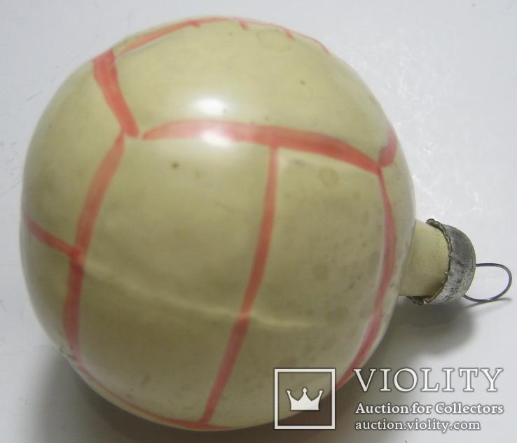 Елочная игрушка мяч, фото №3
