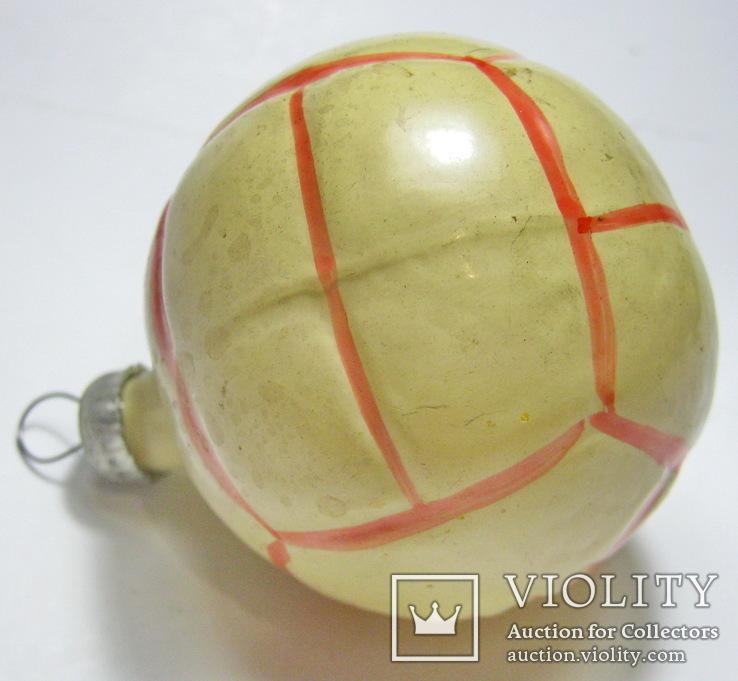 Елочная игрушка мяч, фото №5