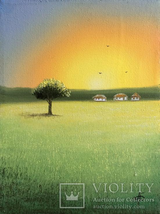 Картина Спогади та мрії, 15х20см. Живопис на полотні., фото №4