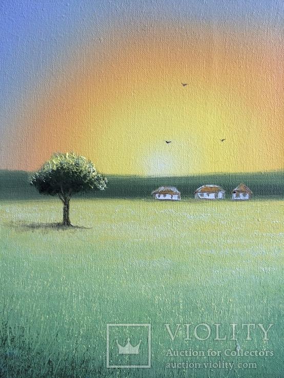 Картина Спогади та мрії, 15х20см. Живопис на полотні., фото №5