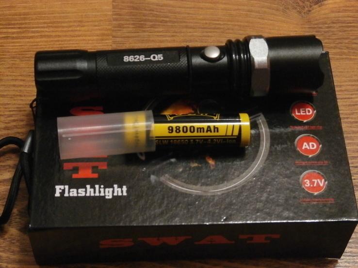 Аккумуляторный фонарь Poliсe T8626-Q5 SWAT, фото №4