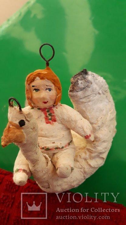 Ёлочная игрушка Гуси лебеди  папье-маше, фото №2