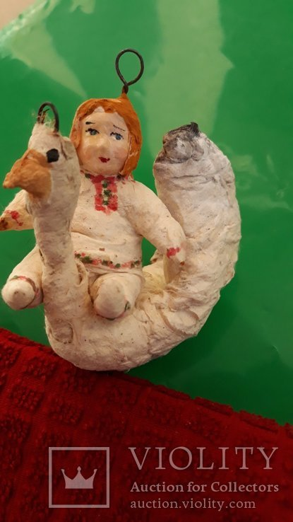 Ёлочная игрушка Гуси лебеди  папье-маше, фото №3