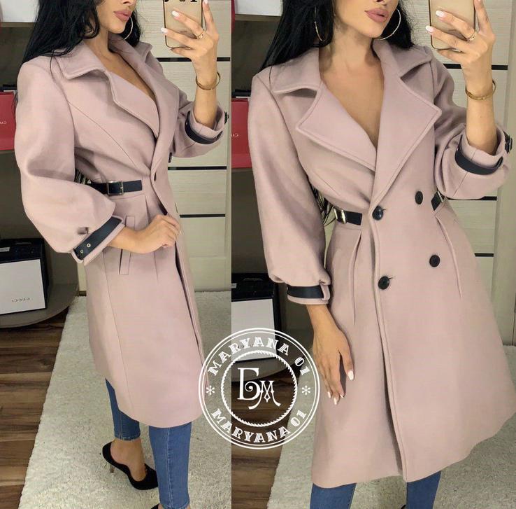 Стильное кашемировое пальто размер 46