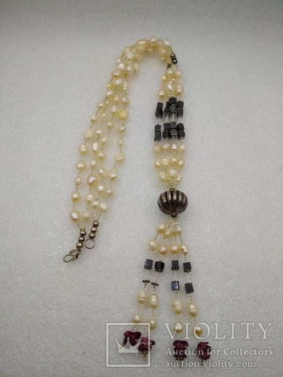 Ожерелье бусы жемчуг, фото №2