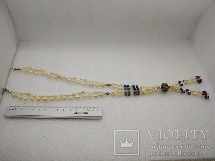 Ожерелье бусы жемчуг, фото №3